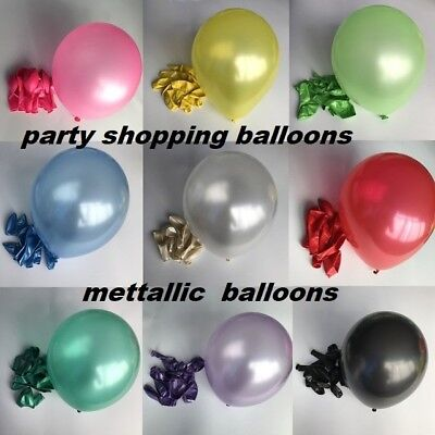 "10 Large Latex 11"" Pearlised Birthday Wedding Party Baloons Ballons Balloons new"