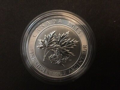 2015 Canada $8 1.5oz 1 1/2oz Super Maple Leaf Fine Silver Bullion coin round BU