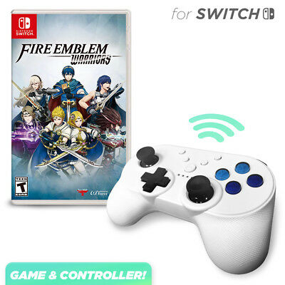 Fire Emblem Warriors and Pro Mini Controller Bundle for Nintendo Switch