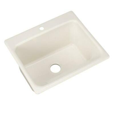 Kensington Drop In Acrylic 25 In 1 Hole Single Bowl Utility Sink