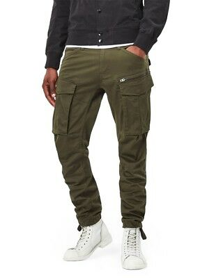 ccde3f48de7 G-Star Raw Cargo Pants Rovic Straight Tapered Army Dk Bronze Green W38 L36