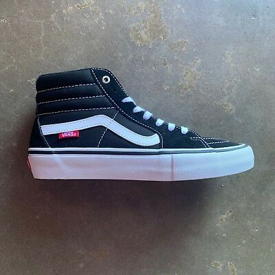 9125cdb68f VANS SK8 HI Pro Trainers Shoes in Black White in UK Size 4