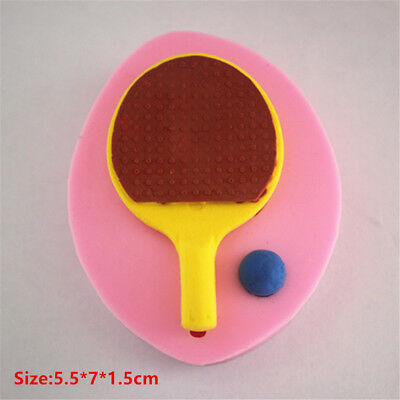 Table Tennis Silicone Cake Mould Fondant Sugar Craft Chocolate Decorating Tools