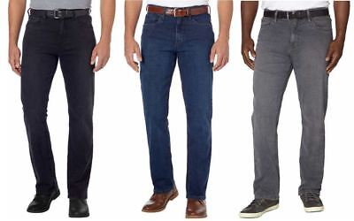 Urban Star Mens Stretch Relaxed Fit Straight Leg Jeans Variety