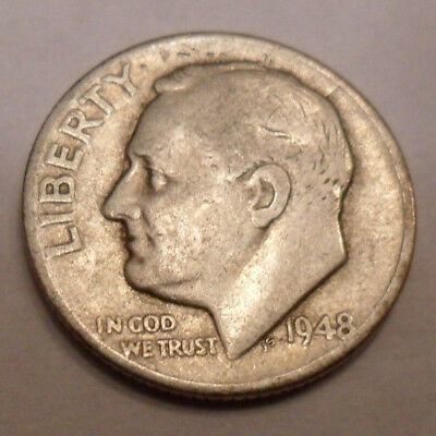 1948 P Roosevelt Dime  *90% SILVER*  *AG OR BETTER*  *FREE SHIPPING*