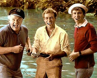 ALAN HALE RUSSELL JOHNSON BOB DENVER GILLIGAN'S ISL 8x10 HAND COLOR TINTED PHOTO