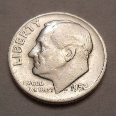 1952 D Roosevelt Dime  *90% SILVER*  *AG OR BETTER*  *FREE SHIPPING*