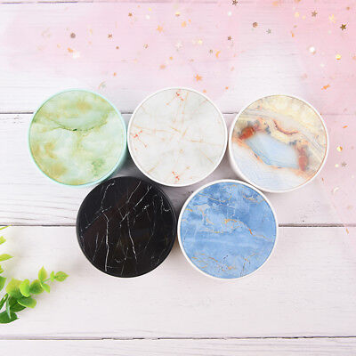 beautiful marble crack contact lens case round with  mirror partner box LE