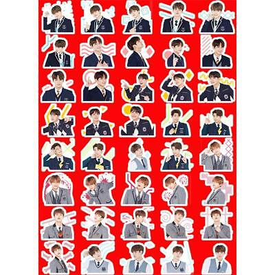 Kpop BTS Uniform Photo Sticker for Mobile Phone Jungkook Jimin DIY Stickers