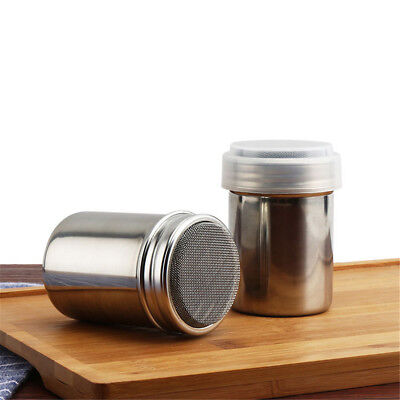 Stainless Steel Chocolate Shaker Icing Sugar Powder Cocoa Flour Coffee Sifter%#