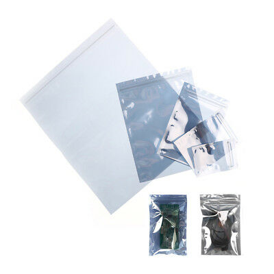 10Pcs ESD Anti-Static Shielding Bag Translucent Zip Lock Resealable Bags%#