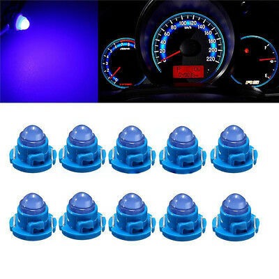 10pcs T4/T4.2 Neo Wedge LED Bulb Cluster Instrument Dash Light Blue Universal