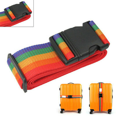 Adjustable Personalise Travel Luggage Suitcase Lock Safe Belt Strap BaggageTie &