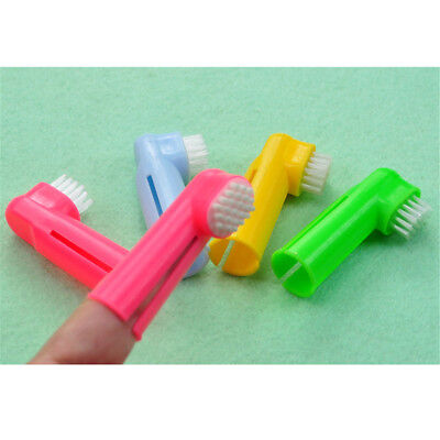 Super Soft Pet Finger Toothbrush Dog Cat Brush Addition Bad Breath Tartar#%