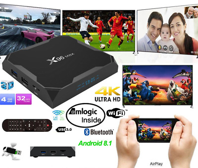 Genuine X96 Max 4GB+32GB Smart Amlogic S905X2 Quad Core TV Box Android 8.1 WIFI