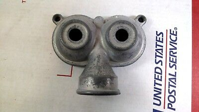 Vintage Metal Sprinkler Head Twin Owl Eye Double Round Spray Garden Hose Dual