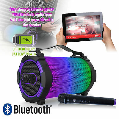 Bluetooth Disco Light Speaker Rechargeable Portable Stereo Boombox UBS MP3 RADIO