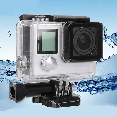 For GoPro Hero 4 Housing Case Waterproof Diving Protective Cover Underwater LE