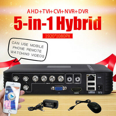 Sicherheit CCTV 8CH Ahd DVR Nvr HD Ip Cvi Tvi Analog 5-IN-1 Hybrid Videorecorder