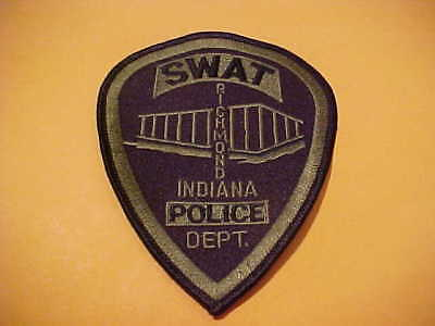 Richmond Indiana S.w.a.t. Police Patch Shoulder Size Unused