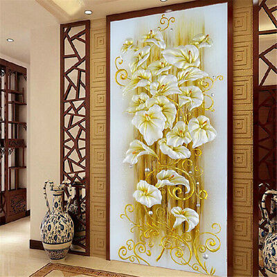 DIY 5D Diamond Embroidery Painting Lily Flower Mosaic Cross Stitch Craft Kit@&