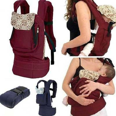 Newborn Baby Carrier Breathable Backpack Ergonomic Adjustable Buckle Sling Wrap
