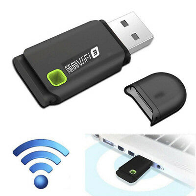300Mbps USB Wireless WiFi Network Receiver Card Adapter Portable For Desktop Acc