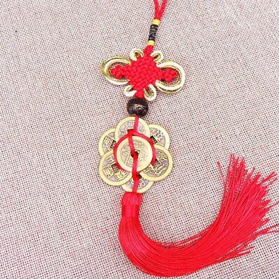 Chinese Knot Tassel China Mascot Lucky Charm Ancient Coin Prosperity Protect C8C