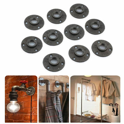 10Pcs 1/2'' Malleable Threaded Floor Flange Iron Pipe Fittings Wall Mount New US