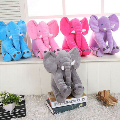 Elephant Soft Plush Pillow Cushion Animal Pet Doll Stuffed Adult Kids Toys Gift