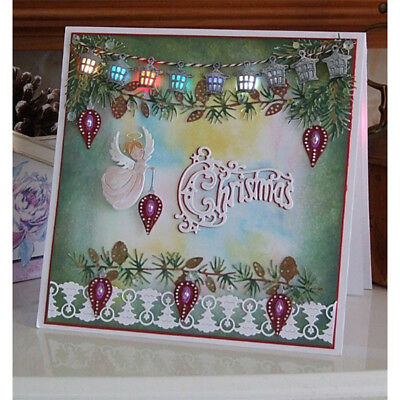 Merry Christmas Border Metal Cutting Dies For Scrapbooking Card Craft Xmas LE