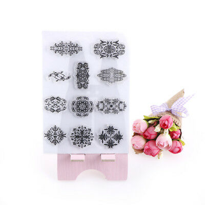 1pcs DIY Transparent Silicone Clear Flower Stamp Sheet Scrap booking Card Craft%
