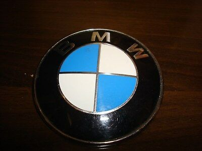 "BMW Car Emblem Chrome Front Badge Logo 3 1/4"" Wide 2 Pins For BMW Hood/Trunk"