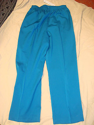 b6b8ffa0ca3 ALFRED DUNNER TEAL Pull On Sheeting Capris 6P Womens  36 Cotton ...