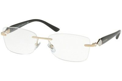 fd09ec325cd BVLGARI BV 4109 501 Womens Black Gold Chain Eyeglasses New Italy ...