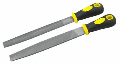 """Rolson 2pc 150mm File Set Tools Metal Sharpen Sharping Flat and Half Round 6"""""""