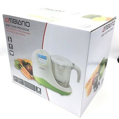 Ambiano Baby Food Processor Maker Steamer Blender Bottle Warmer Sterilizer New