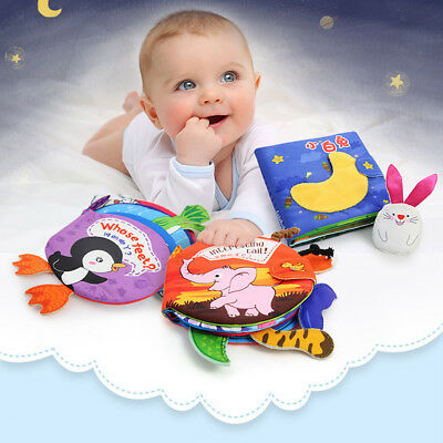 Baby Kid 3D Intelligence Development Cloth Bed Book Story Telling Education Toy