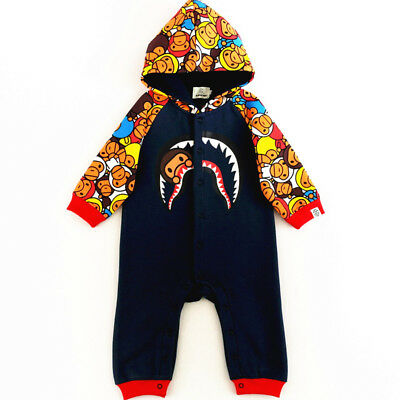 Fashion Hot A Giant Ape Baby Kids Boys Girls Infant Jumpsuit Bodysuit Hoodie Set