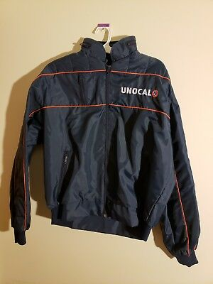 Vintage Unocal 76 Racing Jacket - Size L USA Gas Oil Stock Car Drag Racing union