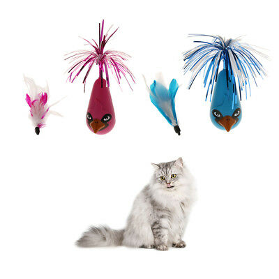 Automatic Rotating Cat Toy Electronic Interactive Cat Feather Toy for Kitten