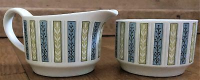 MIDWINTER Fine Shape Everglade Jug & Sugar Bowl Jessie Tait 131 Y