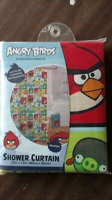 New Angry Birds Microfiber Fabric Shower Curtain 72