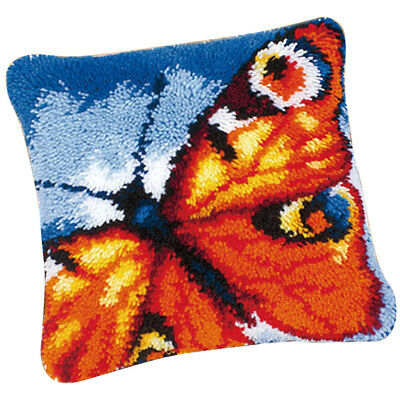 Popular Latch Hook Rug Kits Embroidery Cushion Cover Pillow Case - Butterfly