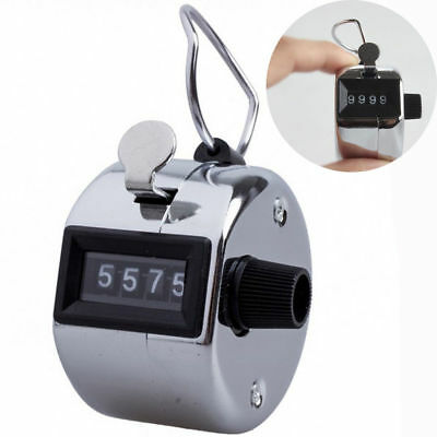 Tally 4 Digit Palm Counters Counter Hand Clicker Manual Handy MalaJap Free Ship