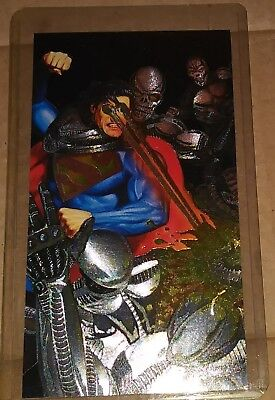 1994 Skybox DC Comics Spectra-Etch Superman Man of Steel Platinum Series Card S4