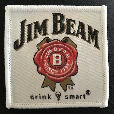 NEW Jim Beam 1795 Bourbon Whiskey Logo  Embroidered Sticker Cloth Fabric Patch