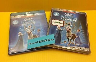 Disney OLAF'S FROZEN ADVENTURE BLU-RAY/ DVD/ DIGITAL - NEW AUTHENTIC REWARDS
