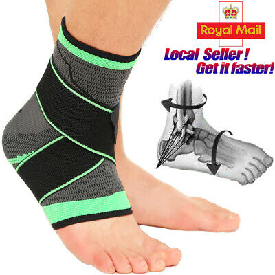 Ankle Support Brace Strap Compression Bandage Foot Wrap Sprains Recovery Sports