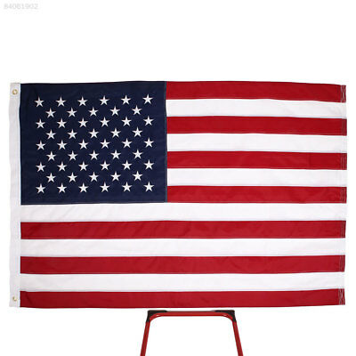 62B4 5'x8' United States American US Flag 210D Nylon Deluxe Embroidered Stars